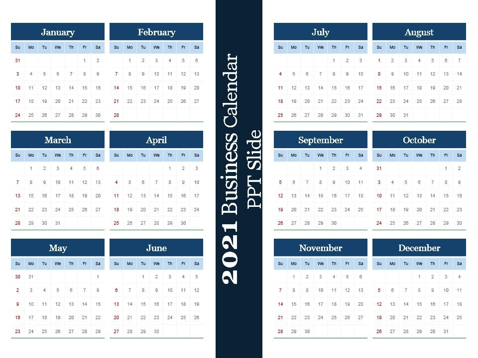 2021 Business Calendar Images
