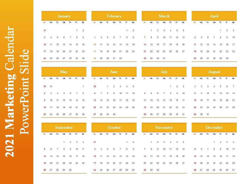 2022 Marketing Calendar.2021 Marketing Calendar Powerpoint Slide Powerpoint Presentation Pictures Ppt Slide Template Ppt Examples Professional