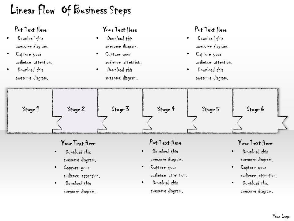 2102 business ppt diagram linear flow of business steps powerpoint template