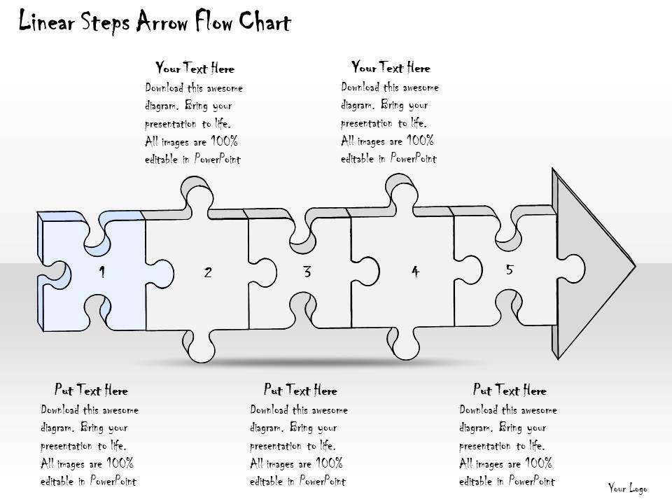 2102 Business Ppt Diagram Linear Steps Arrow Flow Chart