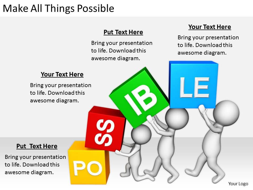 2413 business ppt diagram make all things possible