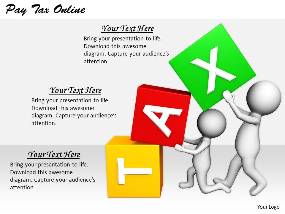 2413 Business Ppt Diagram Pay Tax Online Powerpoint Template