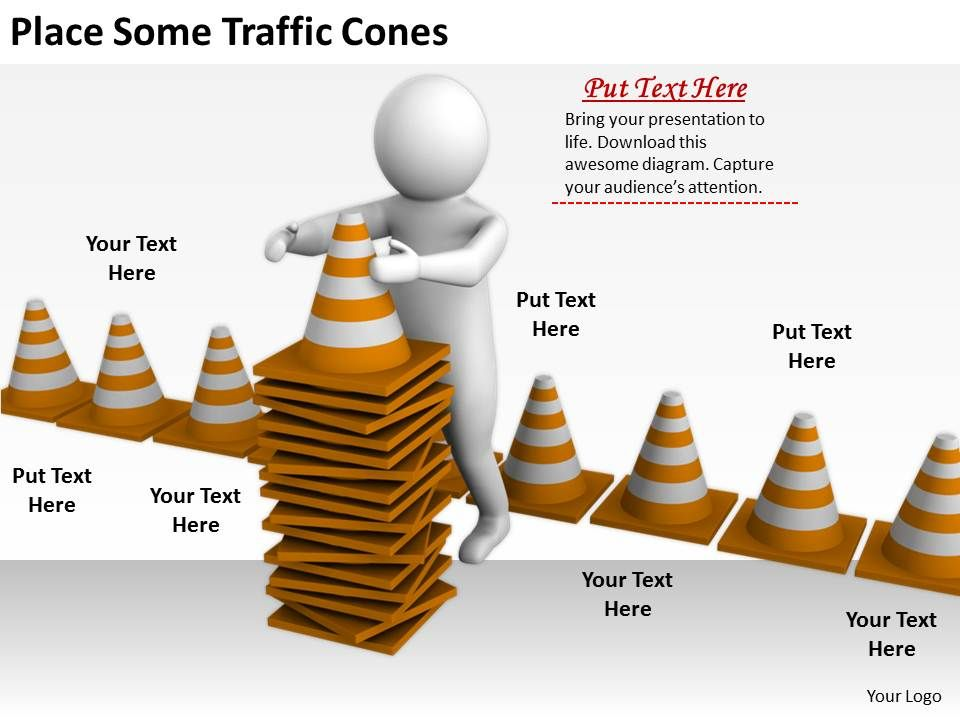 2413 Business Ppt Diagram Place Some Traffic Cones