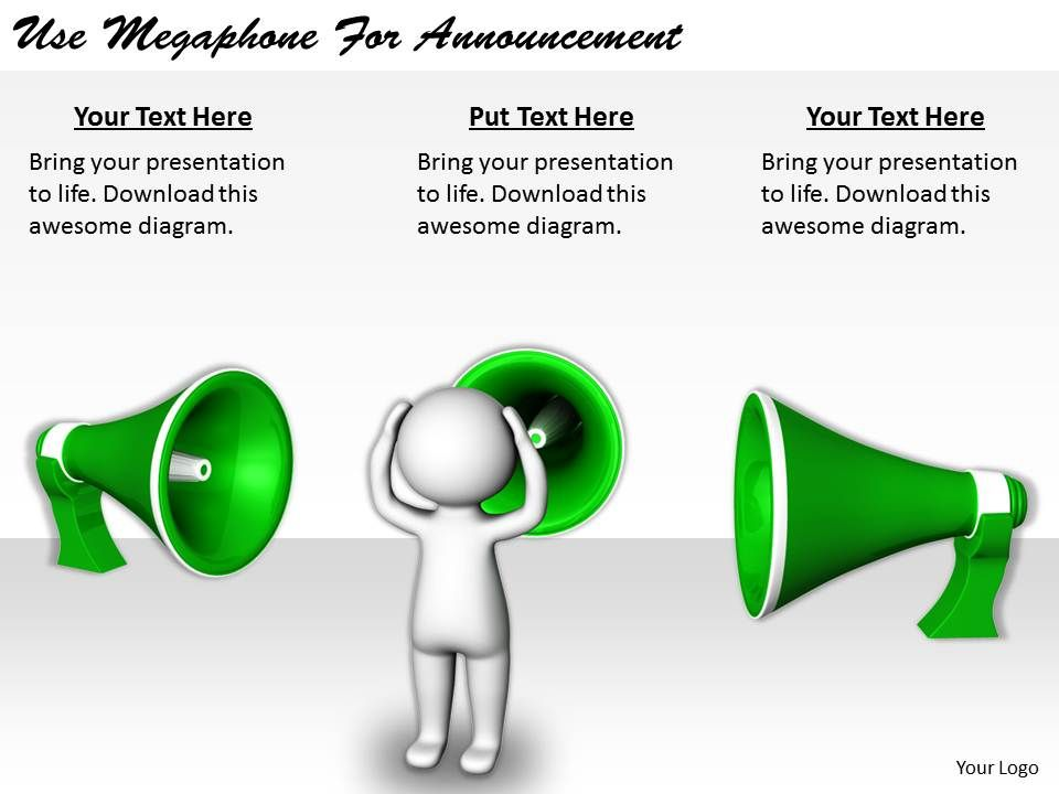 2413_business_ppt_diagram_use_megaphone_for_announcement_powerpoint ...