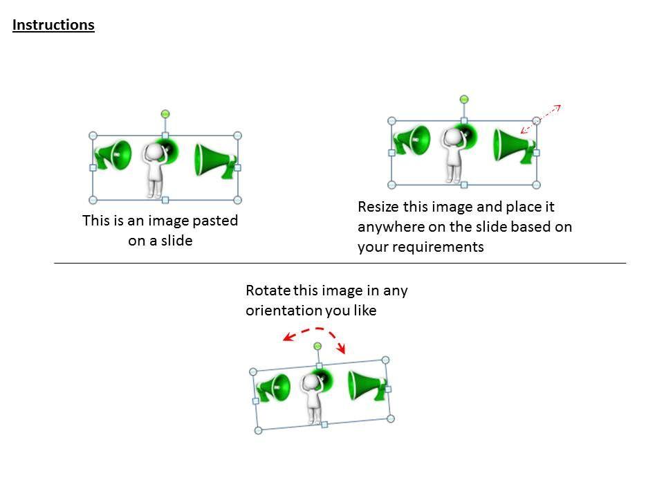 2413 business ppt diagram use megaphone for announcement, Presentation templates
