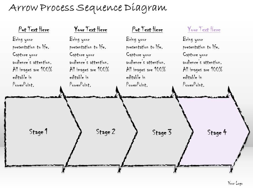 2502 Business Ppt Diagram Arrow Process Sequence Diagram Powerpoint