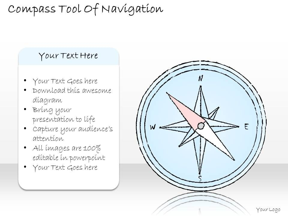 2502 Business Ppt Diagram Compass Tool Of Navigation Powerpoint