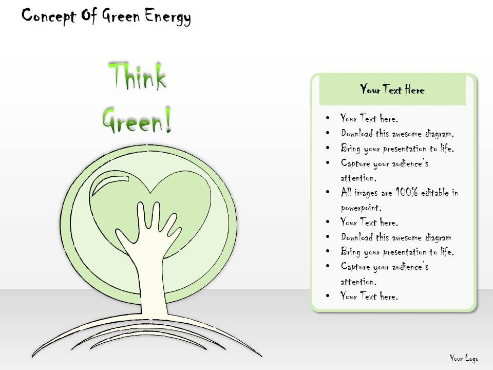 2502 Business Ppt Diagram Concept Of Green Energy Powerpoint