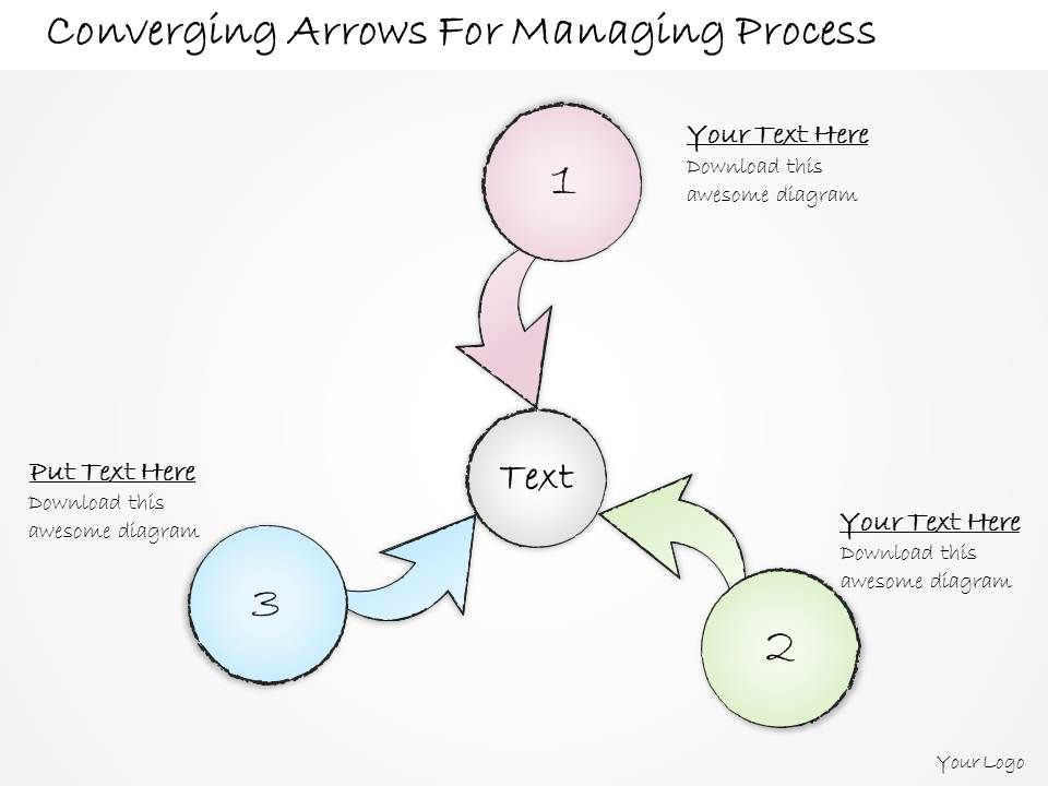 2502_business_ppt_diagram_converging_arrows_for_managing_process_powerpoint_template_Slide01