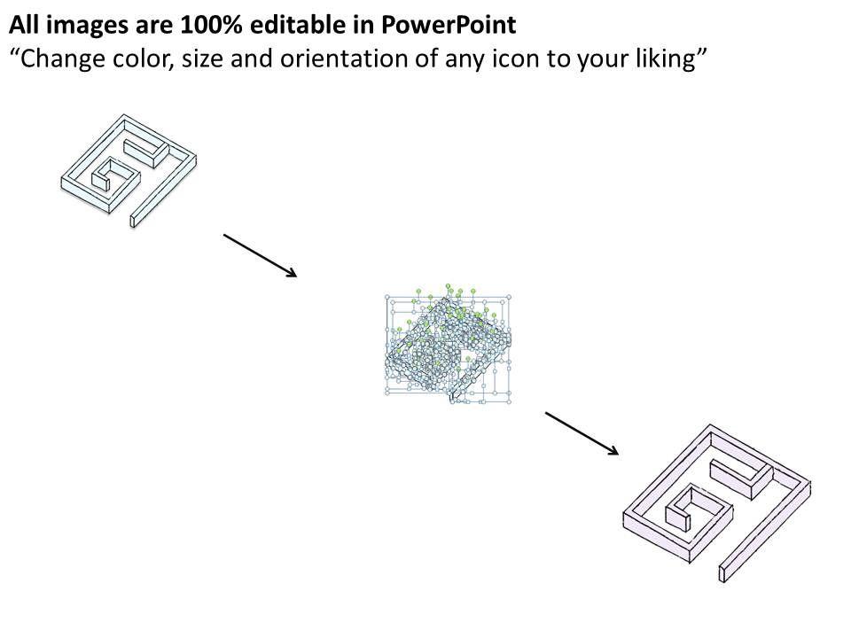 2502 business ppt diagram labyrinth rectangular