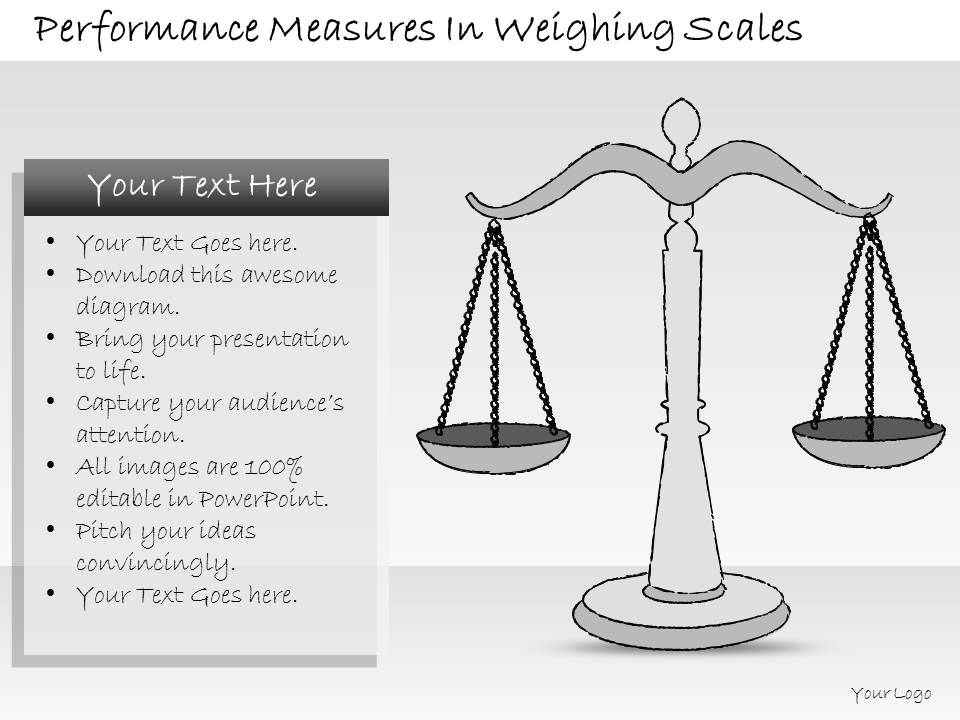 2502 Business Ppt Diagram Performance Measures In Weighing Scales