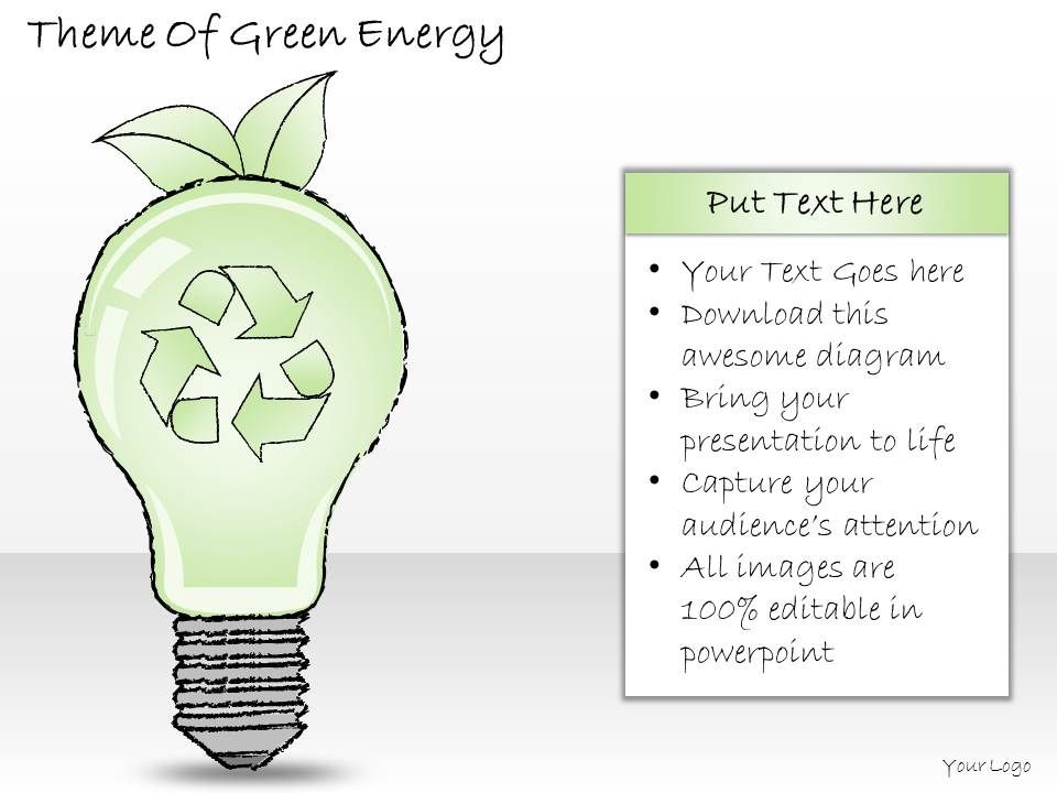 2502 Business Ppt Diagram Theme Of Green Energy Powerpoint Template