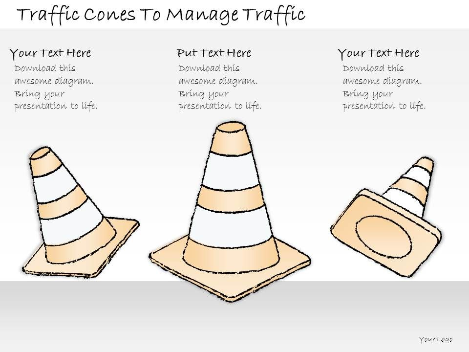 2502 Business Ppt Diagram Traffic Cones To Manage Traffic