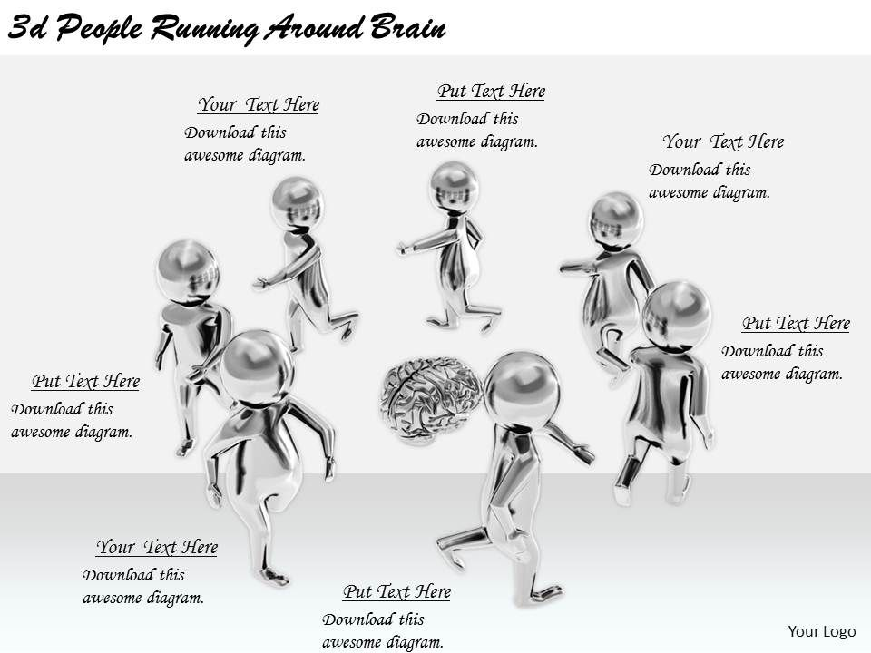 2513_3d_people_running_around_brain_ppt_graphics_icons_powerpoint_Slide01