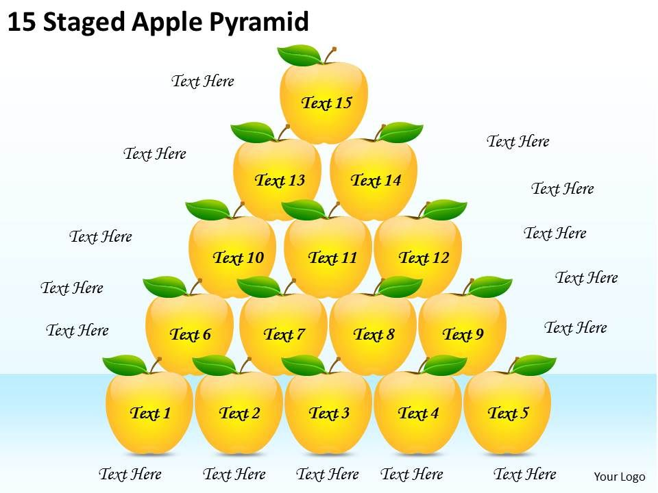 2613_business_ppt_diagram_15_staged_apple_pyramid_powerpoint_template_Slide01