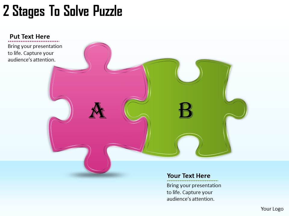 2613 business ppt diagram 2 stages to solve puzzle powerpoint