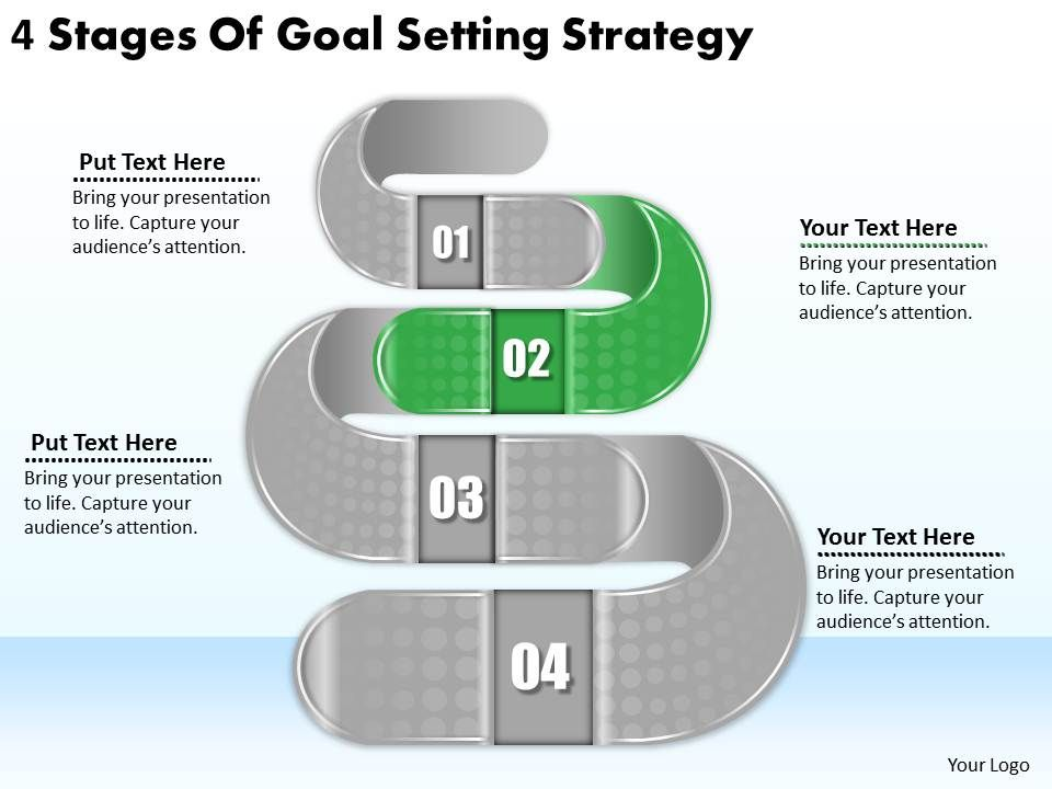 setting up a powerpoint template - 2613 business ppt diagram 4 stages of goal setting