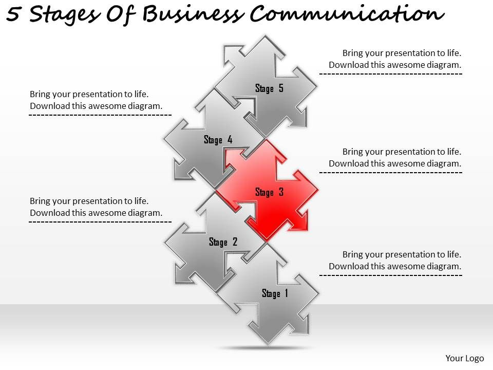 2613 Business Ppt Diagram 5 Stages Of Business