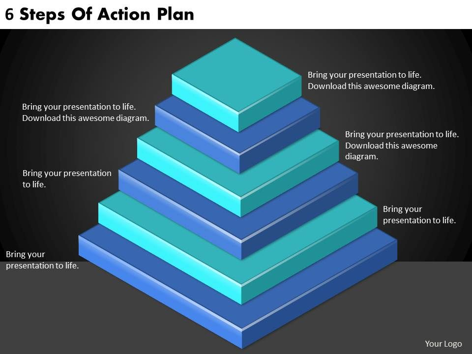 2613 Business Ppt diagram 6 Steps Of Action Plan Powerpoint Template – Action Plan Steps Template