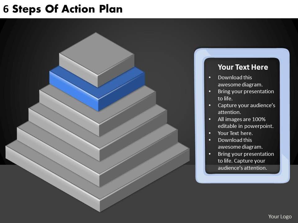 2613 Business Ppt diagram 6 Steps Of Action Plan Powerpoint