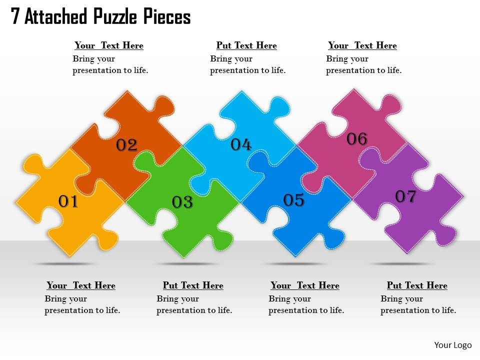 2613_business_ppt_diagram_7_attached_puzzle_pieces_powerpoint_template_Slide01