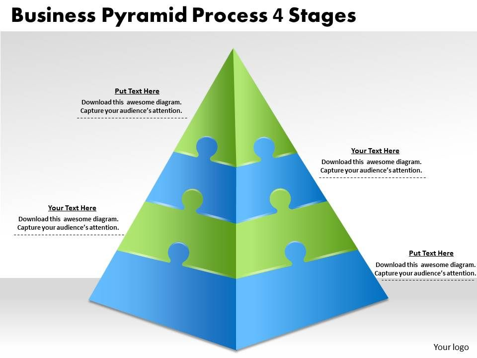 2613 business ppt diagram business pyramid process 4 stages, Powerpoint templates