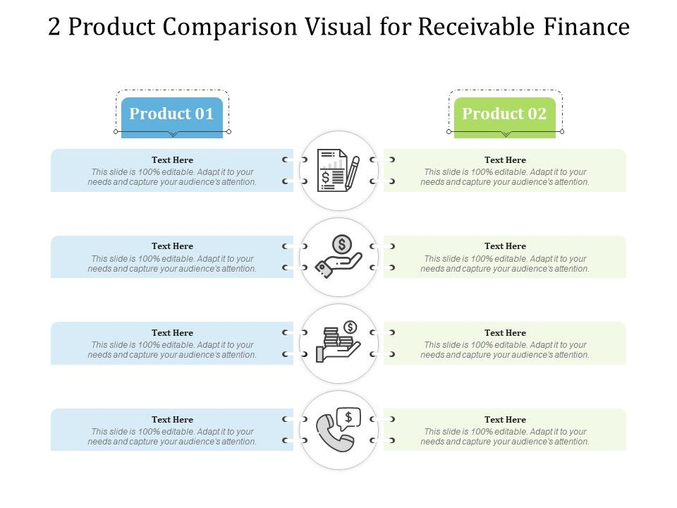 2 Product Comparison Visual For Receivable Finance Infographic Template
