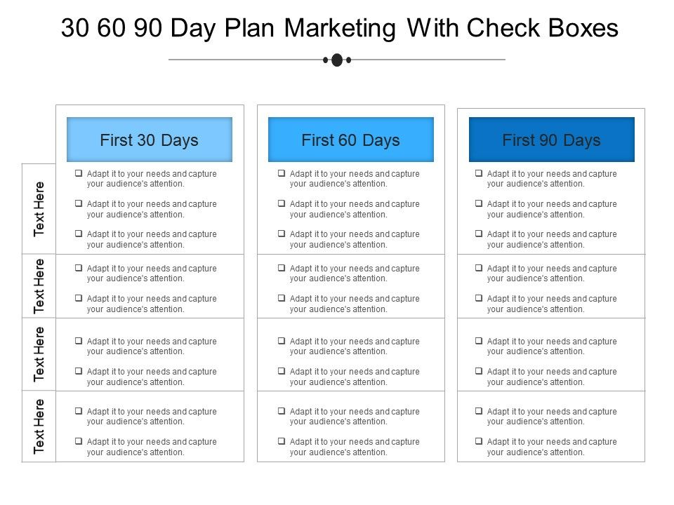 30 60 90 Day Plan Templates In Powerpoint For Planning Purposes 30