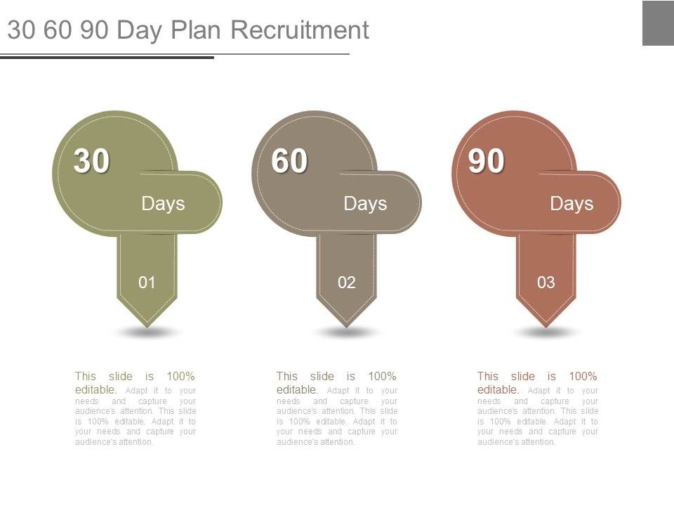Day Plan Templates In PowerPoint For Planning Purposes - Unique 30 60 90 day plan template powerpoint scheme
