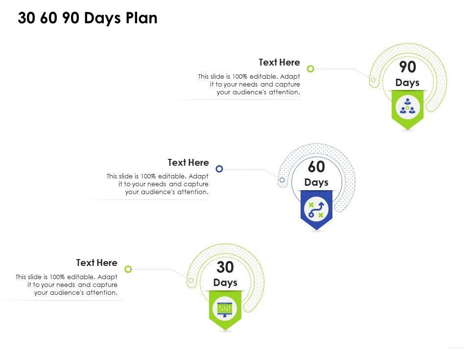 30 60 90 Days Plan Business Management Ppt Clipart