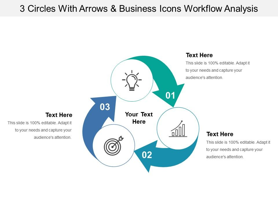 3 Arrows And Business Icons Workflow Analysis Slide01 Slide02