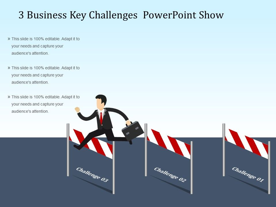 3 business key challenges powerpoint show powerpoint presentation templates ppt template. Black Bedroom Furniture Sets. Home Design Ideas