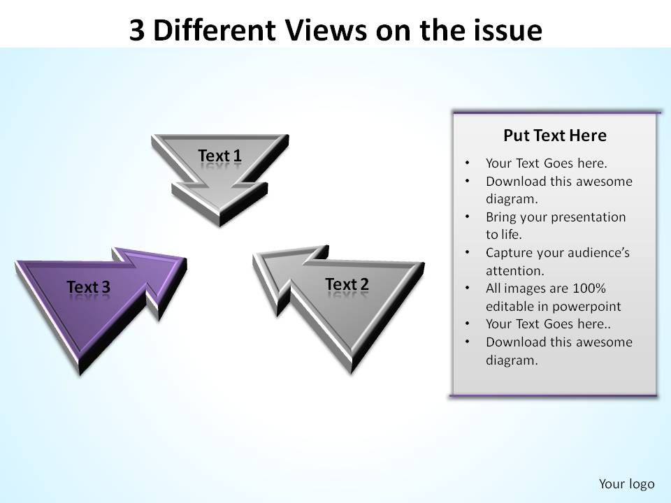 3_different_views_on_the_issue_inward_arrows_ppt_slides_diagrams_templates_powerpoint_info_graphics_Slide04