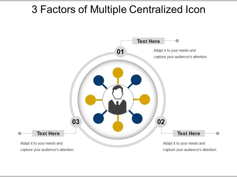 3_factors_of_multiple_centralized_icon_powerpoint_slide_deck_Slide01
