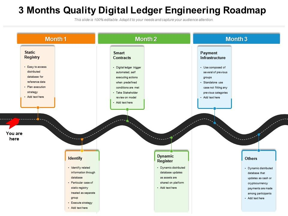 3 Months Quality Digital Ledger Engineering Roadmap