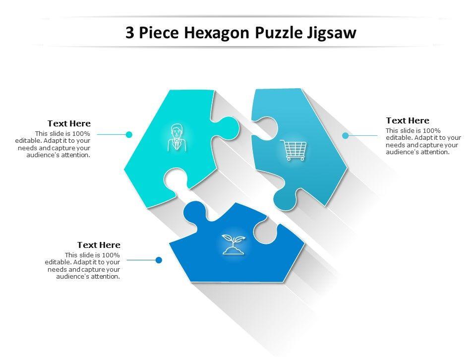3 Piece Hexagon Puzzle Jigsaw