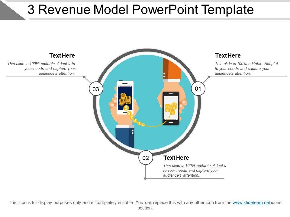 3 Revenue Model Powerpoint Template | PowerPoint Slide