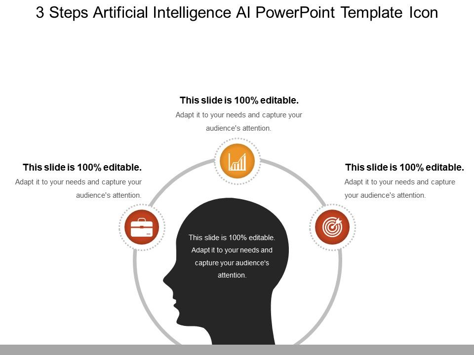 3 Steps Artificial Intelligence Ai Powerpoint Template Icon Sample