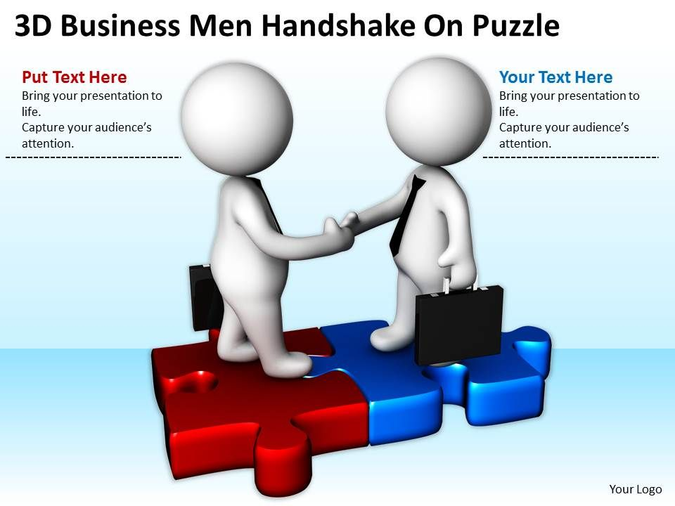 3d_business_men_handshake_on_puzzle_ppt_graphics_icons_powerpoint_Slide01