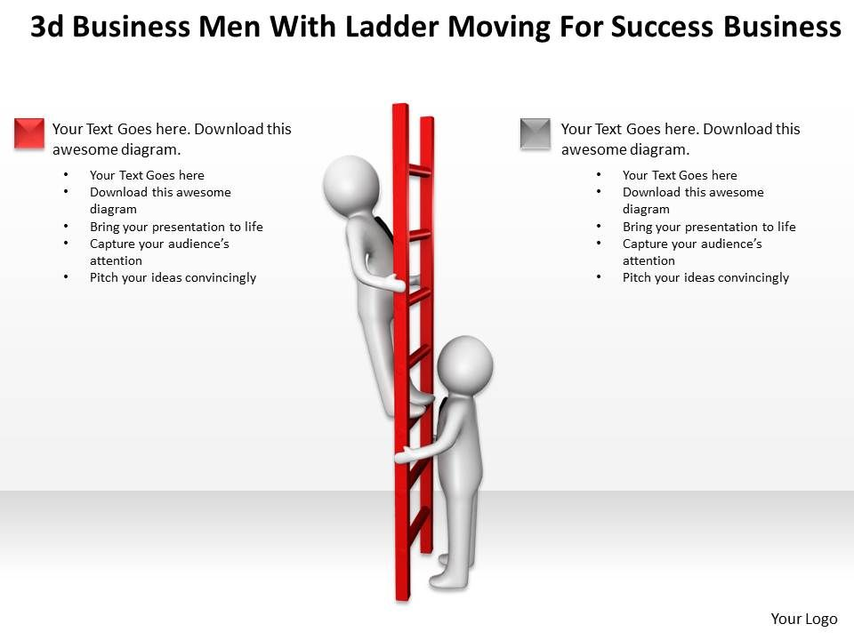 3d business men with ladder moving for success business Ppt Graphic on relay logic schematics, ladder diagrams symbols, ladder diagrams examples, plc schematics,