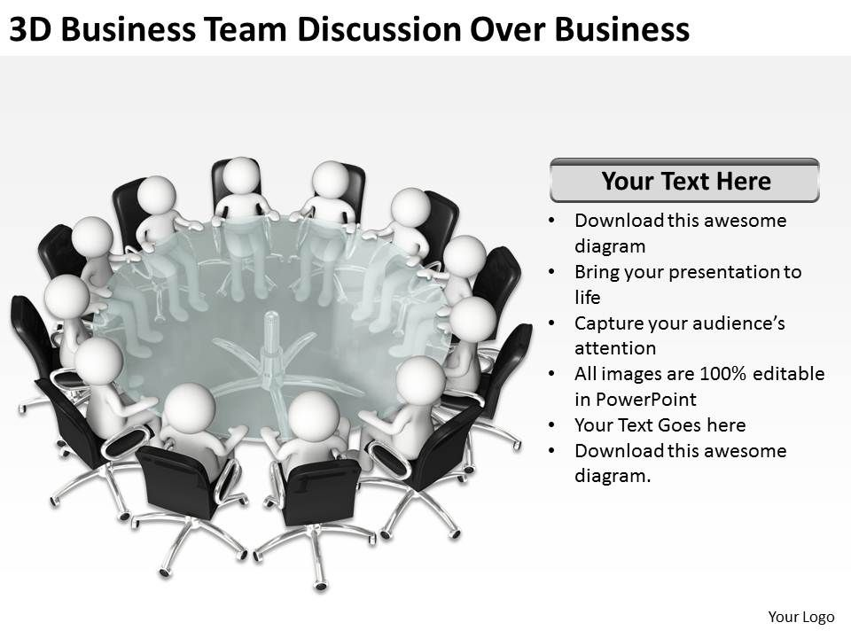 3d_business_team_discussion_over_business_ppt_graphics_icons_powerpoint_Slide01