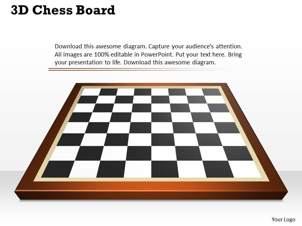 3d chess board powerpoint template slide powerpoint templates