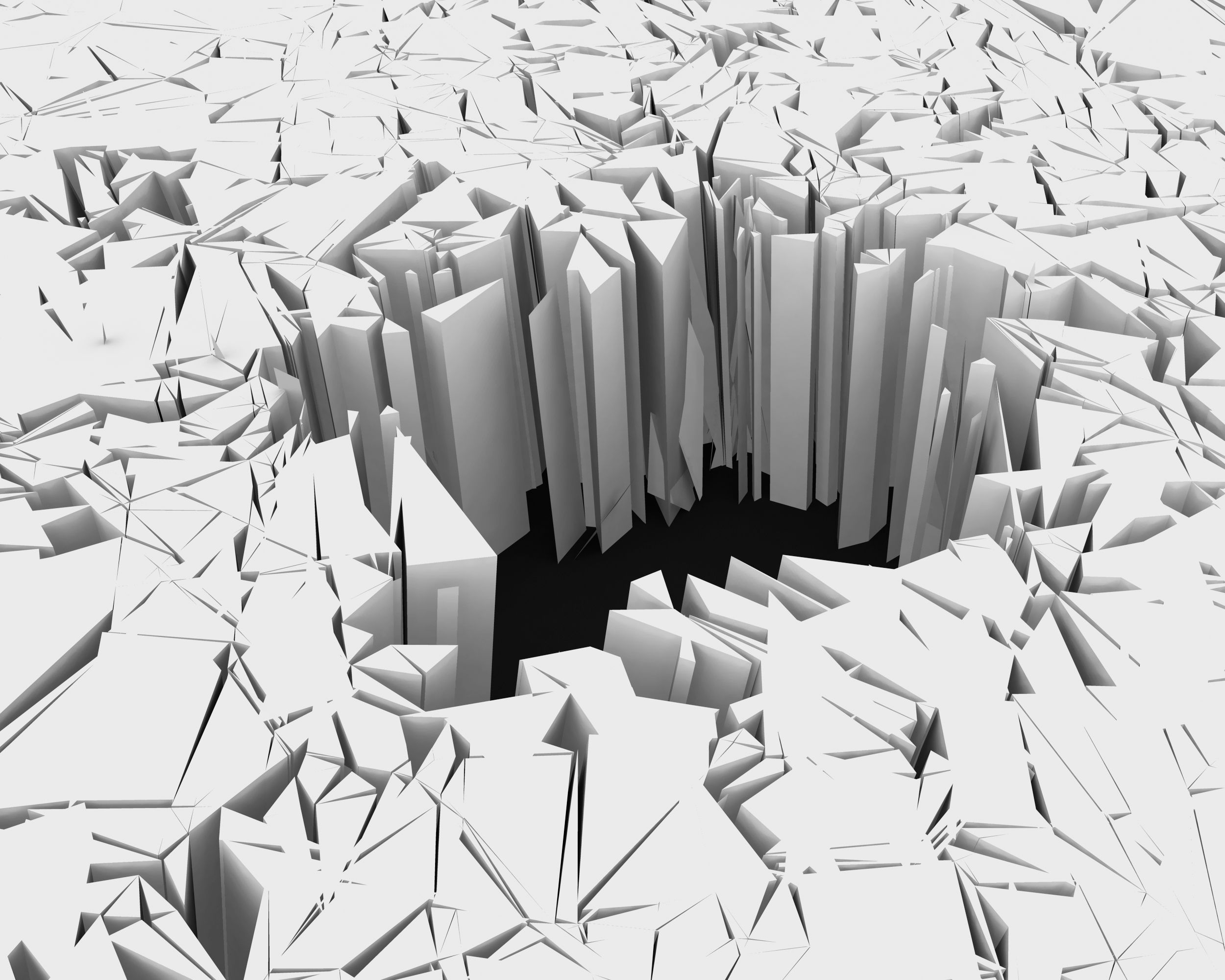 3d Crack Effect With Hole Stock Photo Powerpoint
