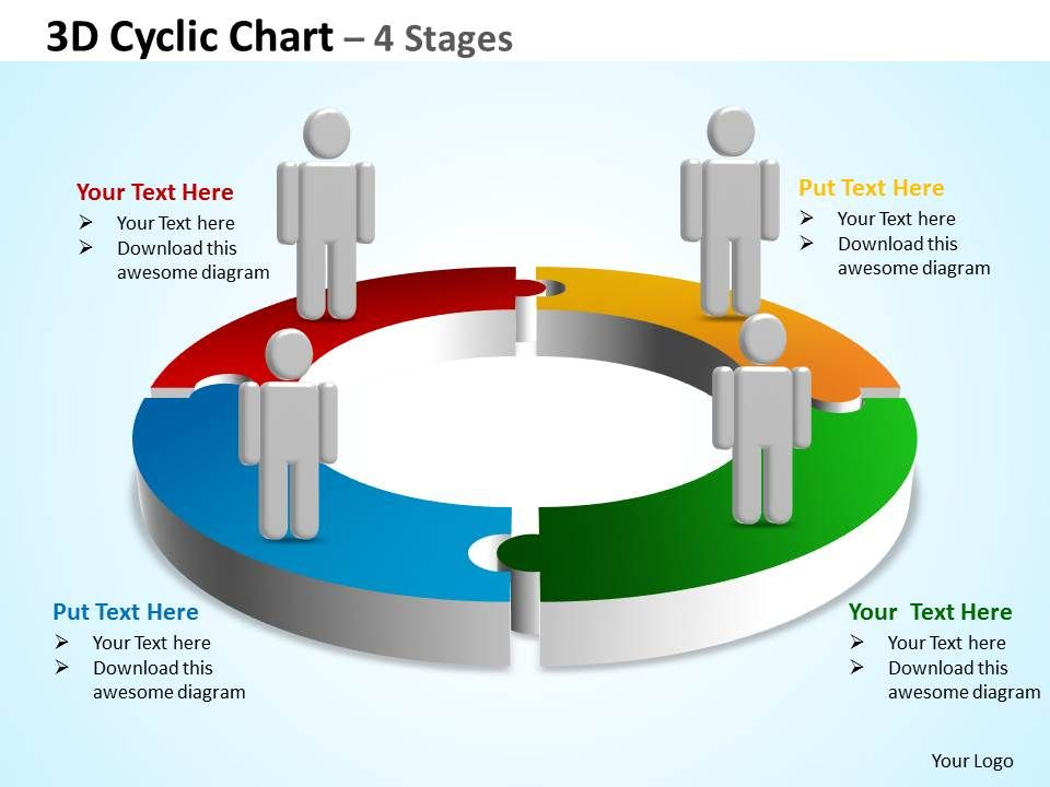 3d_cyclic_chart_4_stages_powerpoint_diagrams_presentation_slides_graphics_0912_Slide01