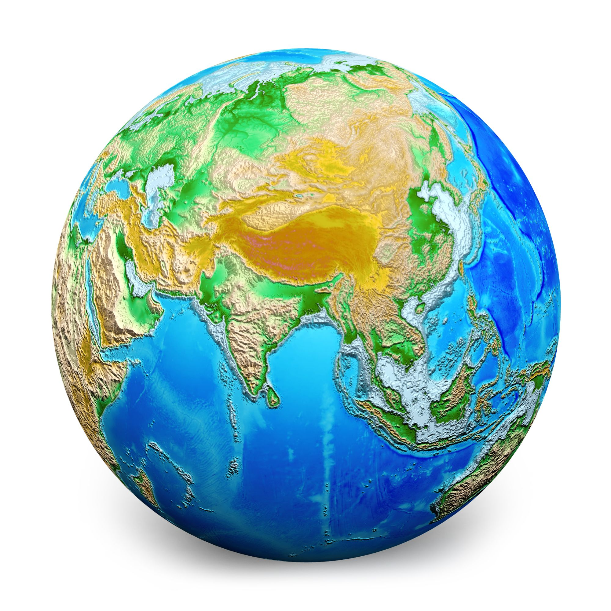Globe Wallpaper: 3D Earth Globe Graphic With White Background Stock Photo