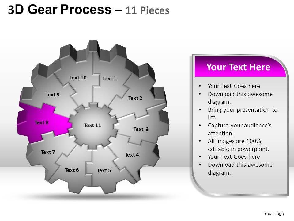3d Gear PowerPoint Templates