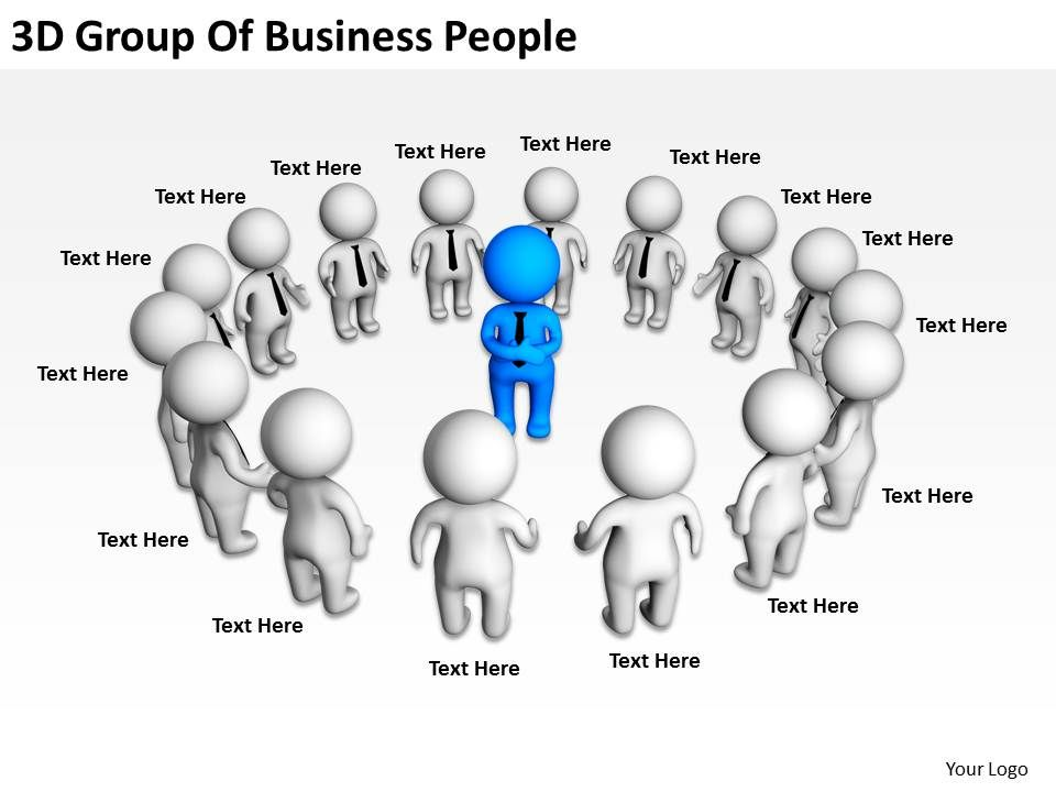 3d group of business people ppt graphics icons powerpoint