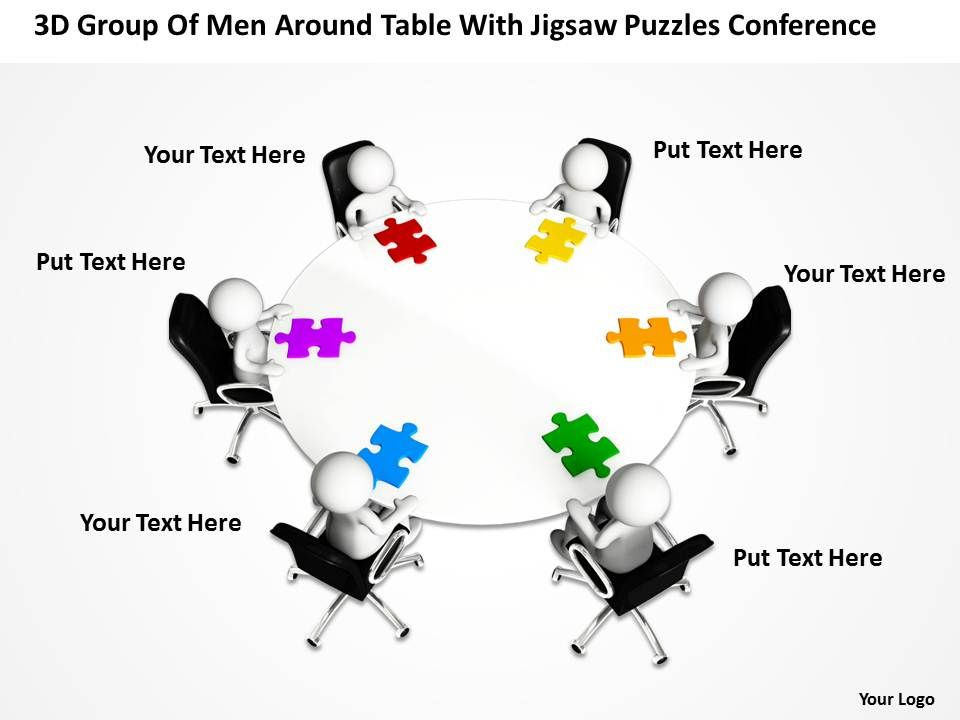 3d_group_of_men_around_table_with_jigsaw_puzzles_conference_ppt_graphic_icon_Slide01