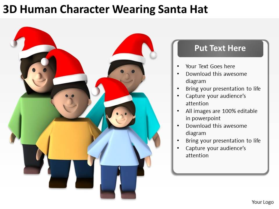 3d_human_character_wearing_santa_hat_ppt_graphics_icons_powerpoint_Slide01