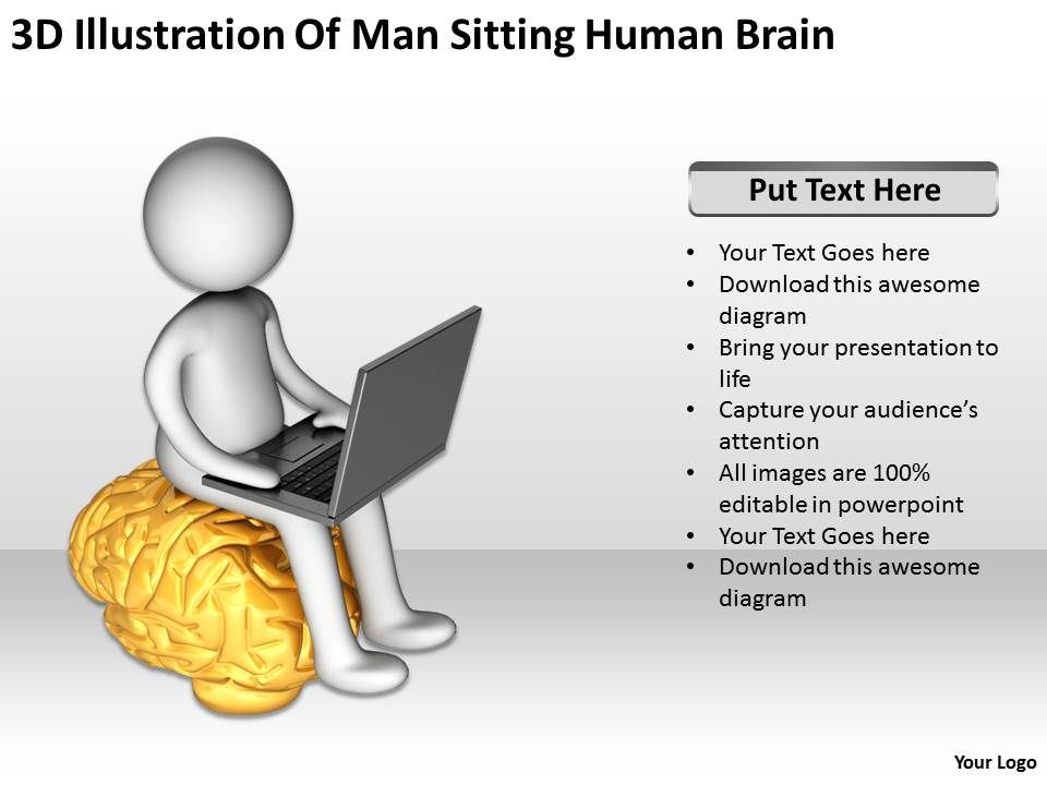 3d_illustration_of_man_sitting_human_brain_ppt_graphics_icons_Slide01